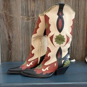 BCBGirls Leather Cowboy Boots